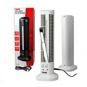 Mini Ventilador e Abajur Base Vertical MLF-002 Tomate USB Torre Led 2 Velocidades Branco