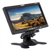 Monitor Lcd Veicular Automotivo 7 Pol Hdmi VGA AV c/ Suporte