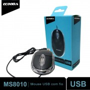 Mouse Usb Óptico MS8010 Ecooda Notebook Pc Led Acrílico