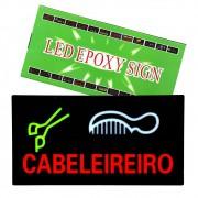 Painel Letreiro Luminoso de Led Cabeleireiro Le-4003 Lelong Salão Pisca Led Alto Brilho