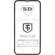 Película 5D de Vidro Proteção Para Iphone X e XS Celular Smartphone Preta