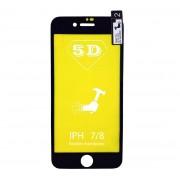 Película 5d Nano Gel Proteção Para Iphone 7 e 8 Celular Smartphone Preto