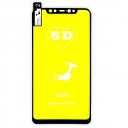 Película 5d Nano Gel Proteção Para Xiaomi Mi 8 Celular Smartphone Preta