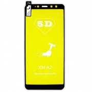 Película 5d Nano Gel Proteção Para Xiaomi Mi A2 Celular Smartphone Preta