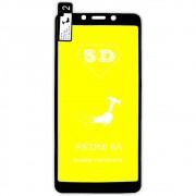 Película 5d Nano Gel Proteção Para Xiaomi Redmi 6A Celular Smartphone Preta