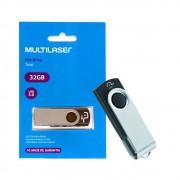 Pen Drive Twist 32GB USB 3.0 PD989 Multilaser Alta Velocidade Preto