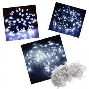 Pisca Pisca 100 Lâmpadas Led 110v 10mt 8 Funções Fio Transparente Natal Decoração Branco Frio
