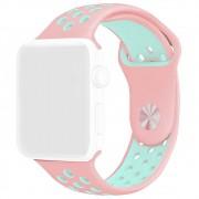 Pulseira Esporte Furos Silicone Para Relógio Apple Watch 42mm Series 1 2 3 Rosa Furo Azul Turquesa