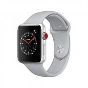 Pulseira Esporte Silicone Para Apple Watch 38mm Series Cinza Claro