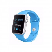 Pulseira Esporte Silicone Para Apple Watch 42mm Series Azul