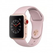 Pulseira Esporte Silicone Para Apple Watch 42mm Series Rosê