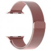 Pulseira Milanês Milanese Aço Loop Metal Apple Watch 42/44mm Series 1 2 3 4 Magnética Rose
