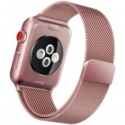 Pulseira Milanês Milanese Aço Loop Metal Apple Watch Series 4 40mm Rosê