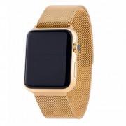 Pulseira Milanês Milanese Aço Loop Metal Apple Watch Series 4 44mm Dourada