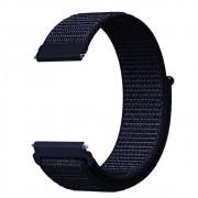 Pulseira Nylon 20mm Para Relógio Xiaomi Huami Amazfit Bip Azul Escuro
