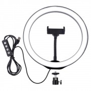 Ring Light Iluminador 12pol 30cm Led Usb 3500k 5500k Celular