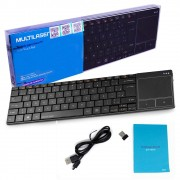 Teclado Sem Fio Pc Smart Tv Touch Pad Windows Android Mac OS