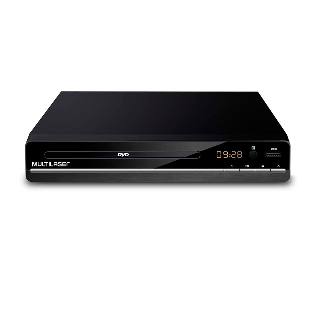 Aparelho Dvd Player 3 em 1 Multimídia SP252 Multilaser Rca 2.0 Canais Usb Mp3 Cd Ripping
