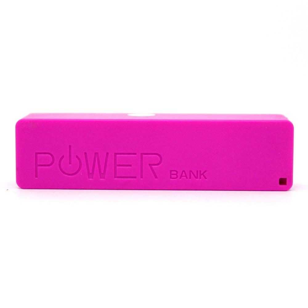 Bateria Portátil Externa Power Bank 2200mAh CB078 Smartogo Multilaser Usb Celular Tablet Rosa
