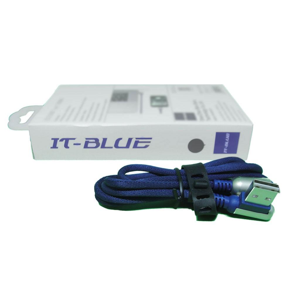 Cabo Usb Tipo C 13110T It-Blue 1 Metro Corda Dados Carregador Reforçado Azul