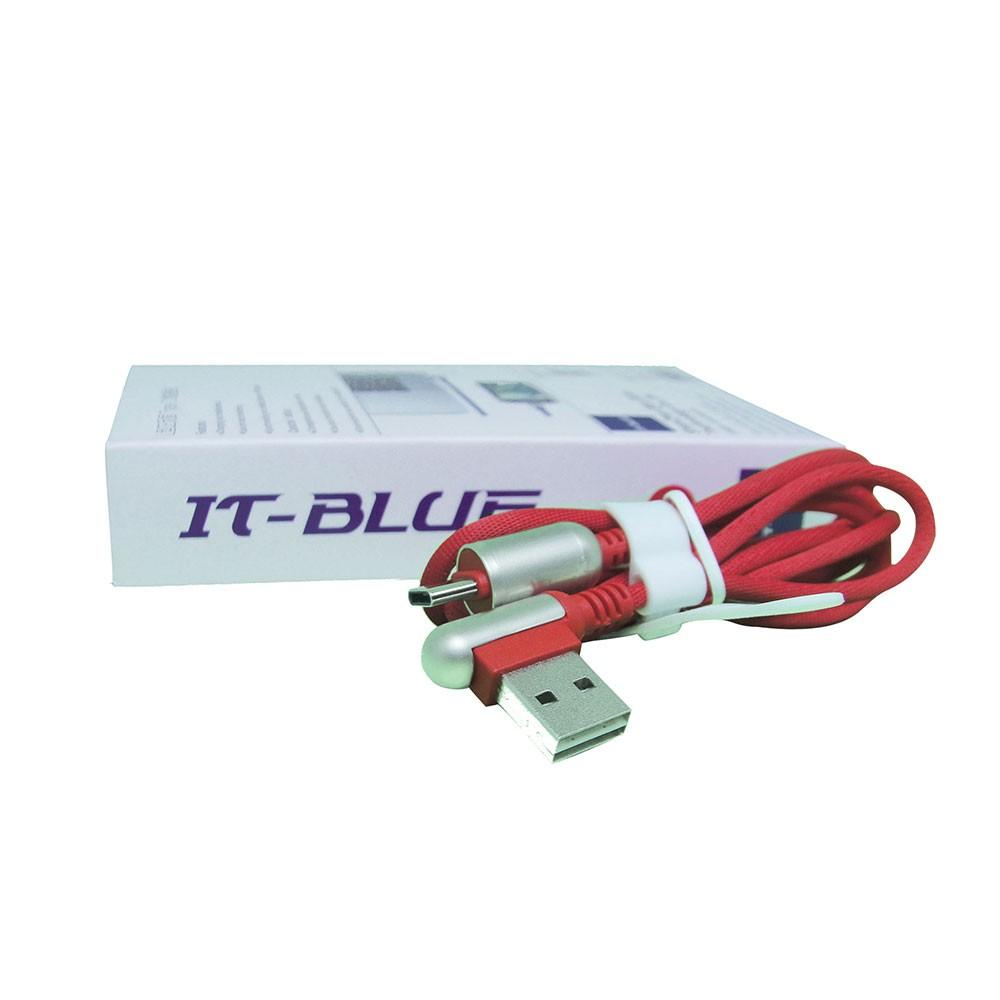 Cabo Usb Tipo C 13110T It-Blue 1 Metro Corda Dados Carregador Reforçado Vermelho