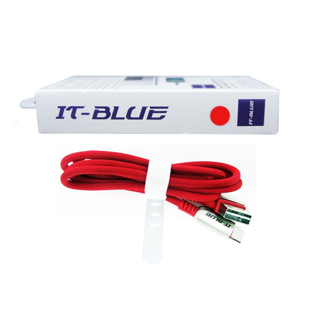 Cabo Usb Tipo V8 13110V It-Blue 1 Metro Corda Dados Carregador Reforçado Vermelho