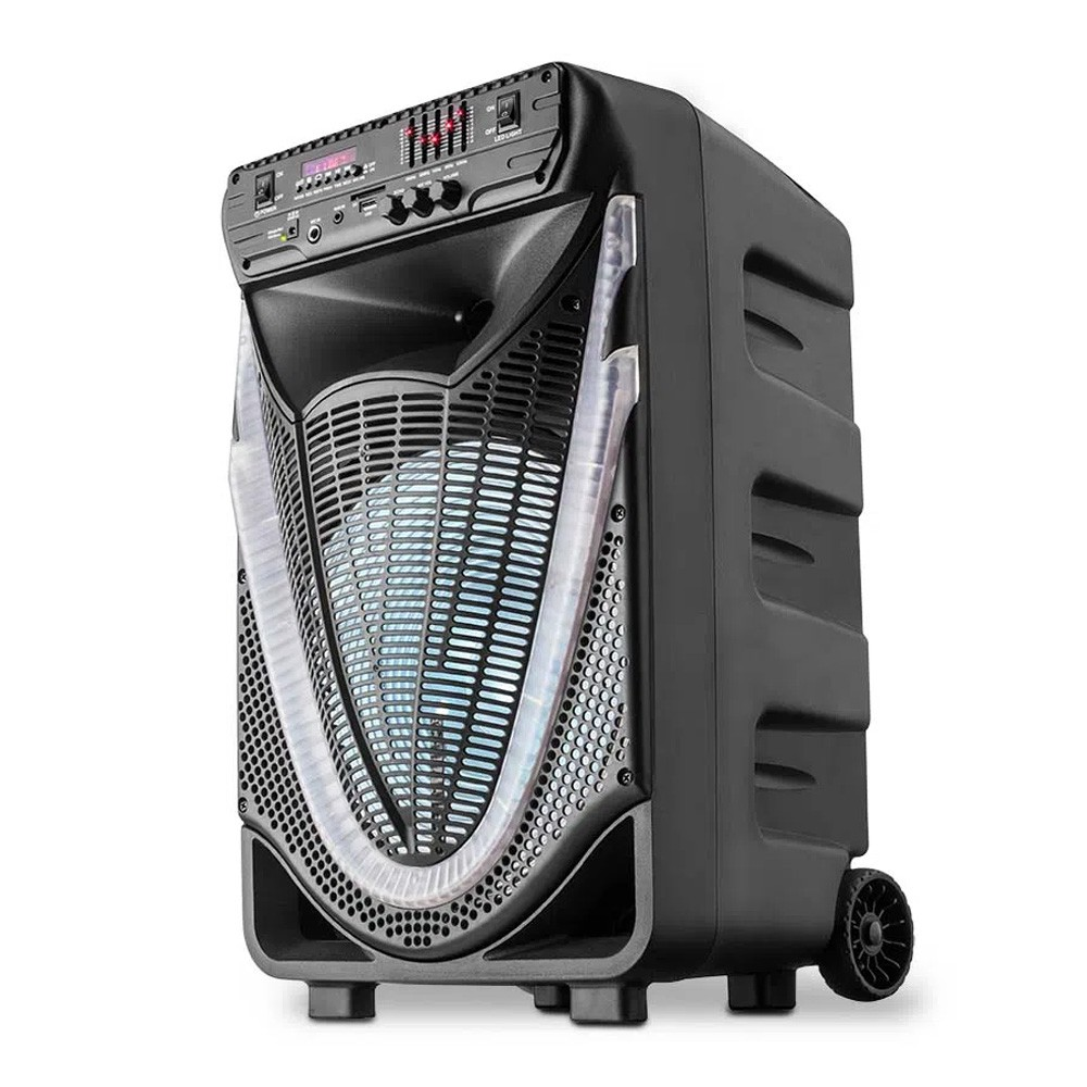 Caixa de Som Amplificada 400w BT/AUX/SD/USB/FM/LED SP340