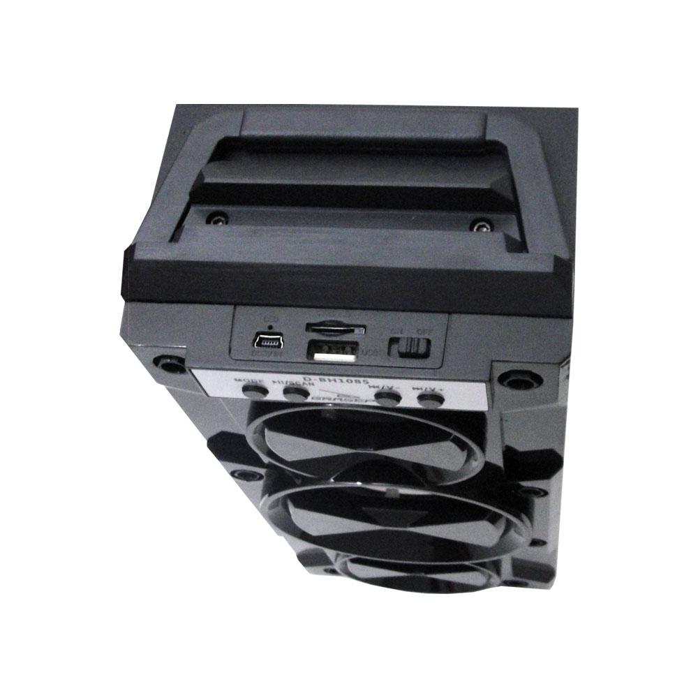 Caixa de Som Amplificada Portátil Bluetooth D-BH1085 Grasep Radio Fm Pen Drive Mp3 Vermelha