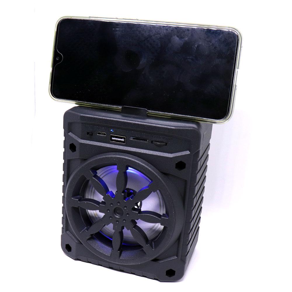Caixa de Som Bluetooth 5.0 Portátil AL-302 TWS Recarregável Mini 5W USB Micro SD FM Preto