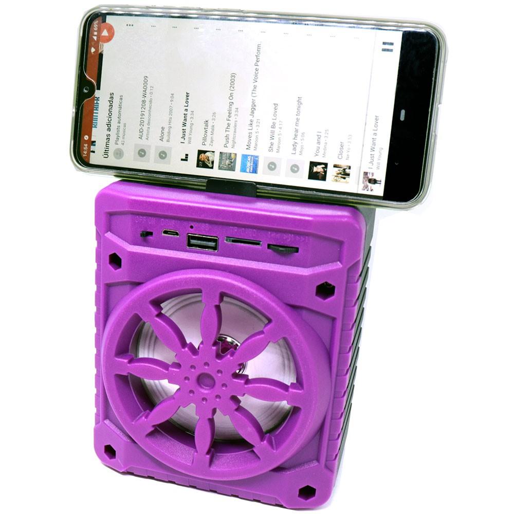 Caixa de Som Bluetooth 5.0 Portátil AL-302 TWS Recarregável Mini 5W USB Micro SD FM Rosa