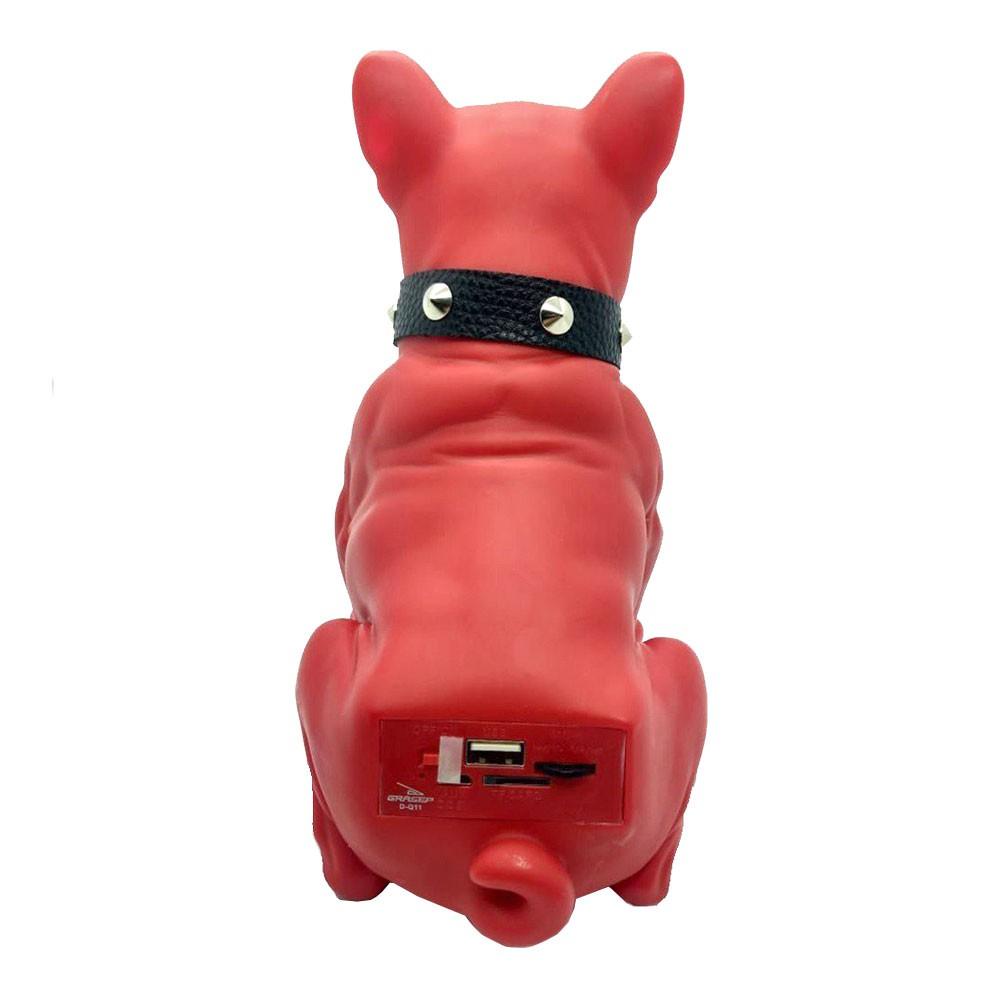 Caixa de Som Bluetooth Bulldog D-q11 Grasep 8W Radio Fm Pen Drive Mp3 Vermelha