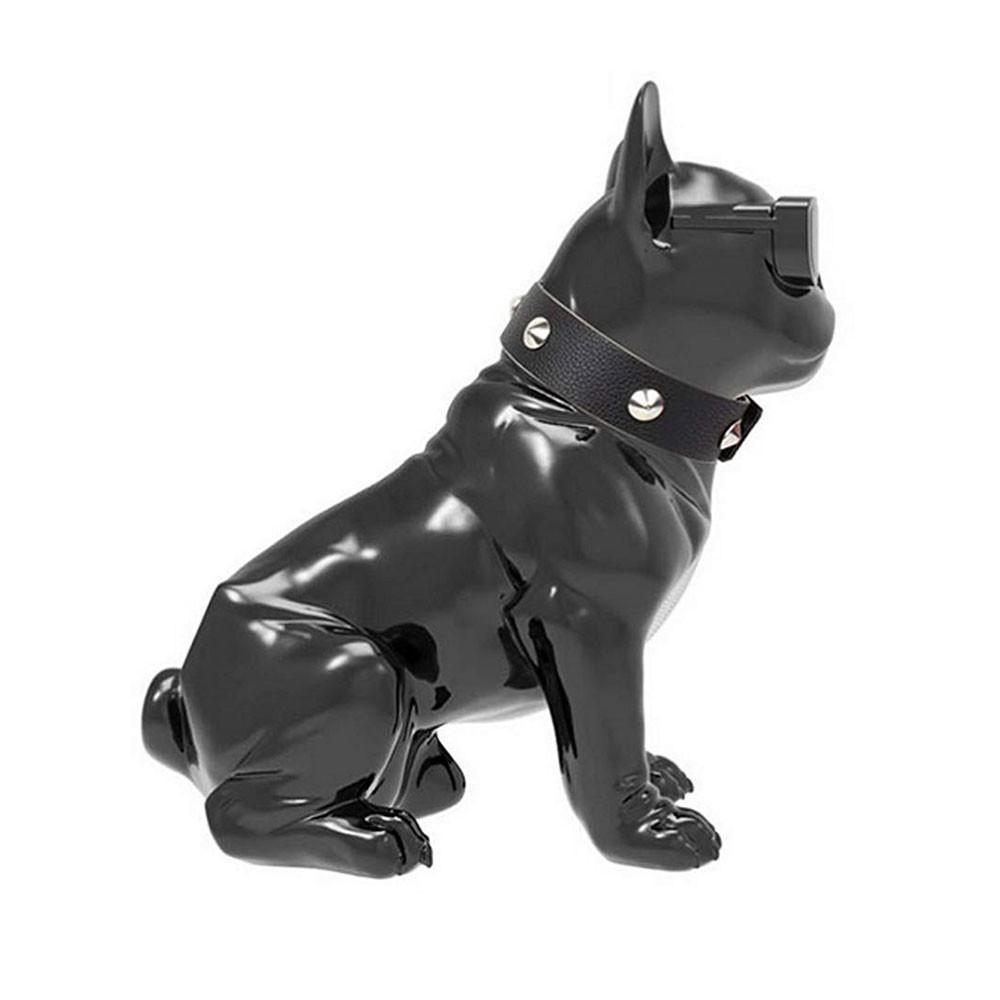 Caixa de Som Bluetooth CH-M10 Bulldog Francês Cachorro Portátil 5w Fm Preta