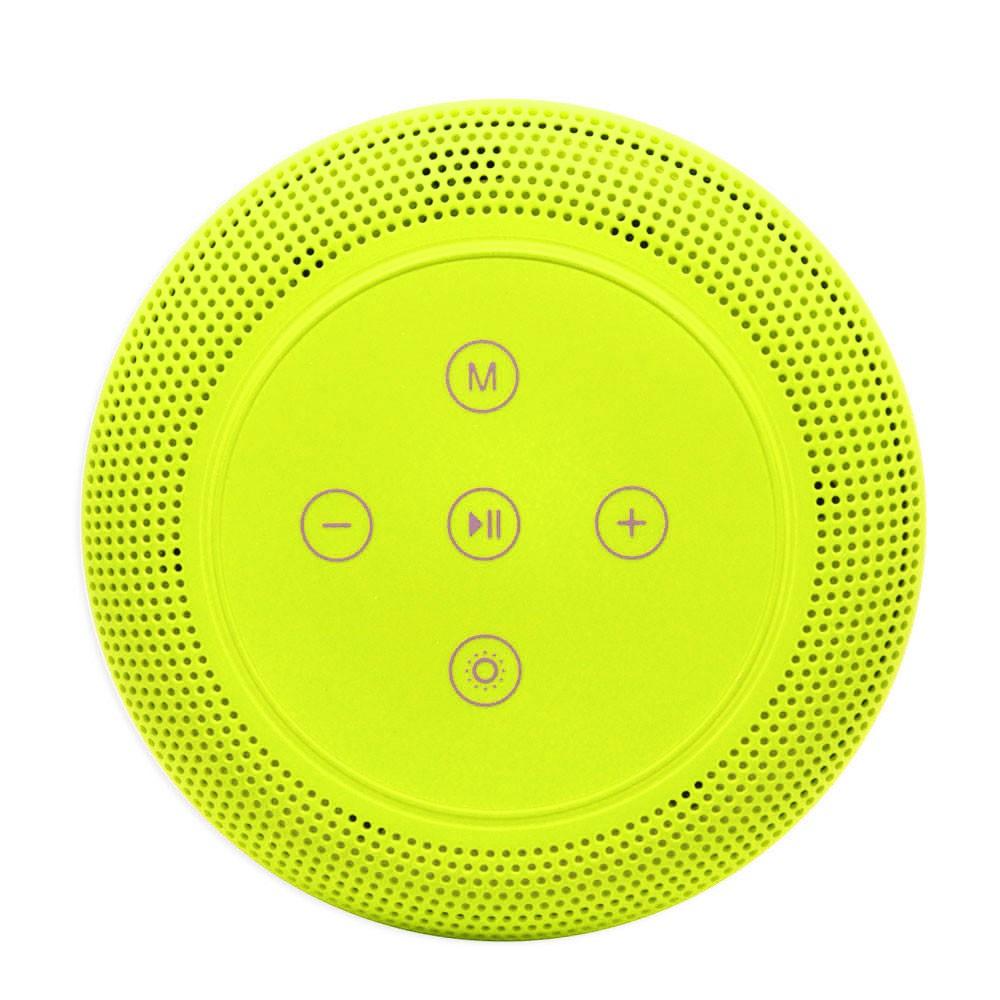 Caixa de Som Bluetooth Led 5w MY-002 Tomate Carregador por Indução Abajur Luminária Verde