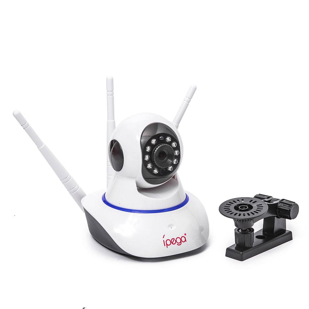 Câmera Ip 3 Antenas Wireless Sem Fio KP-CA127 Ípega Wifi Hd Sensor Noturna Rotação App Smartphone