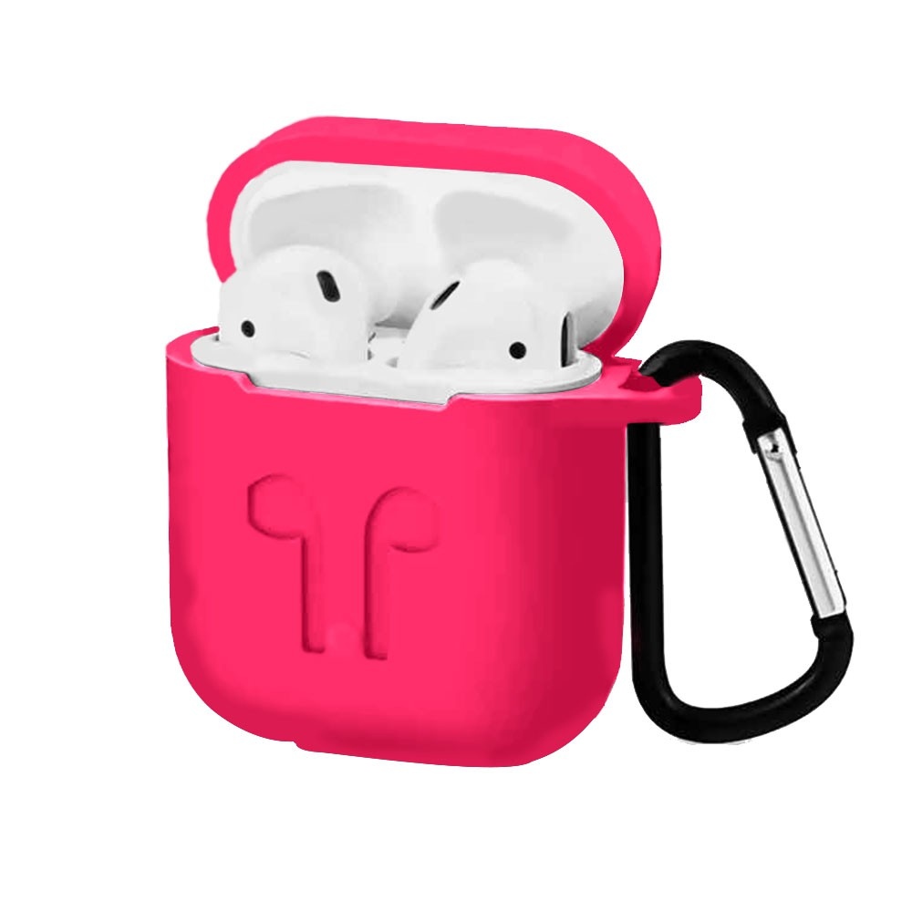 Capa Anti Queda Silicone Para AirPods Apple iPhone Rosa Pink