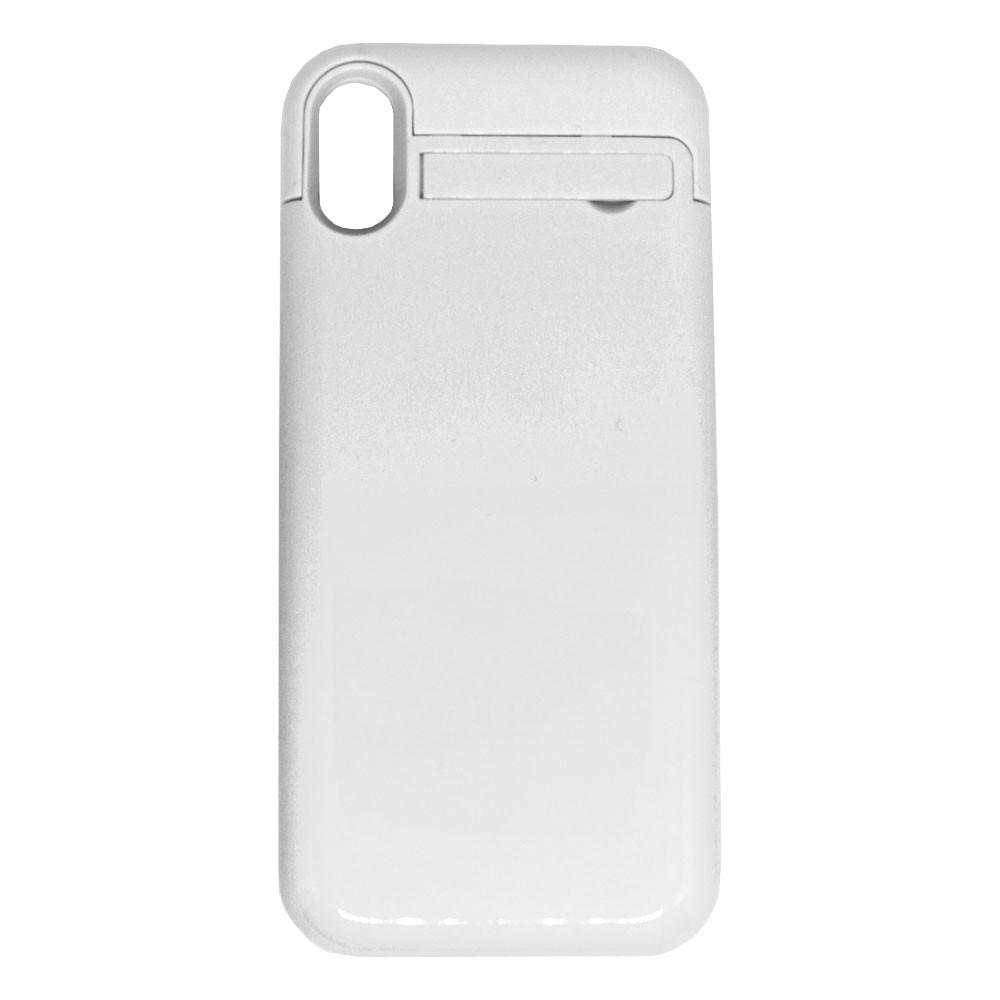 Capa Carregadora Bateria Portátil Externa Power Bank para iPhone X Usb Lighthing Branca