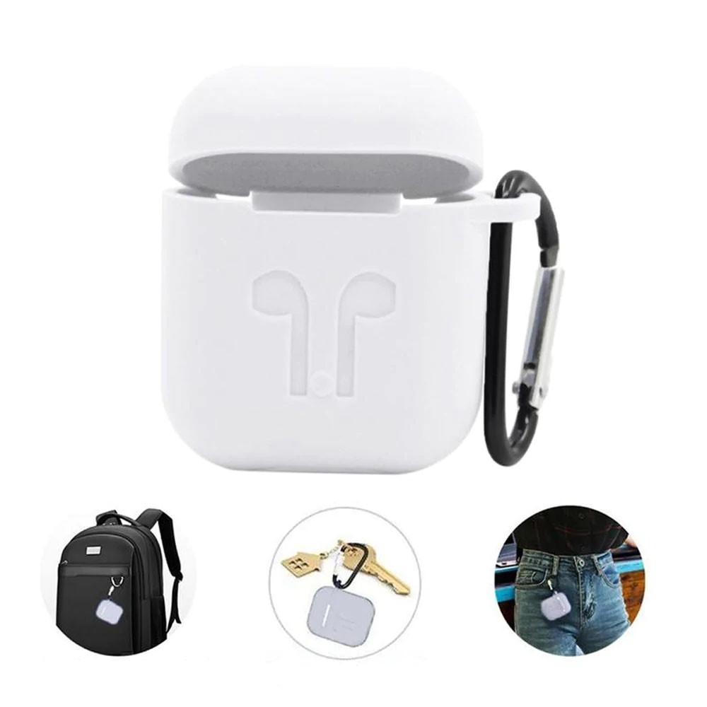 Capa Case Anti Queda Silicone para AirPods Apple iPhone Branco