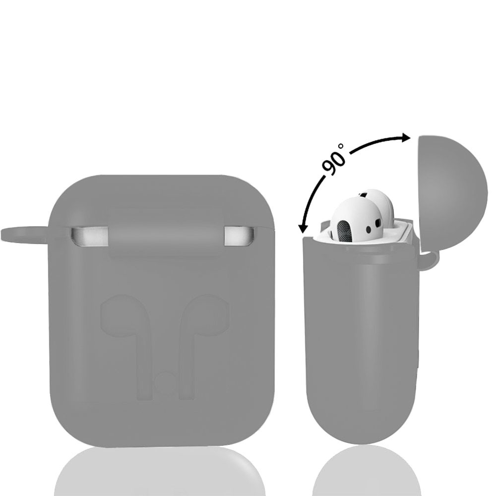 Capa Case Anti Queda Silicone para AirPods Apple iPhone Cinza