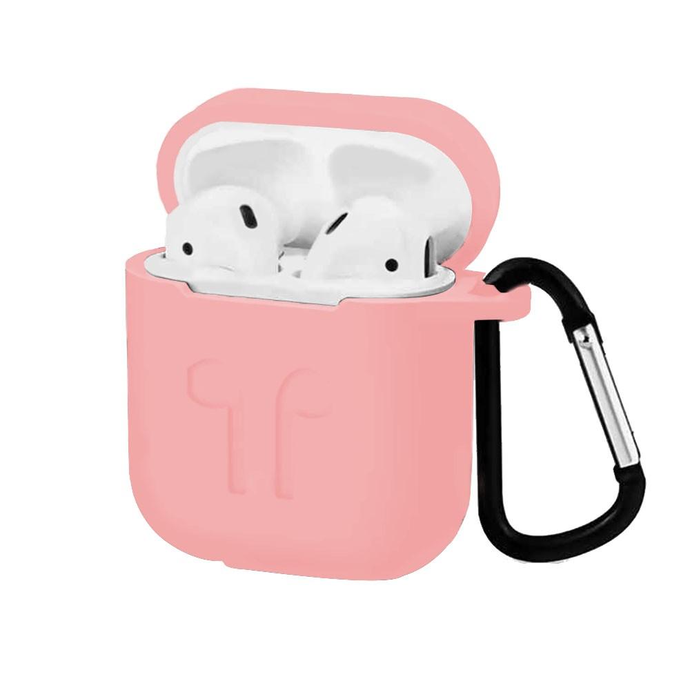 Capa Case Anti Queda Silicone para AirPods Apple iPhone Rosa Bebe