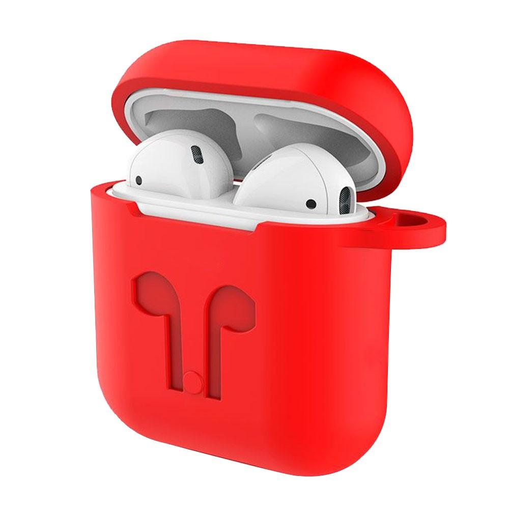 Capa Case Anti Queda Silicone para AirPods iPhone Vermelho