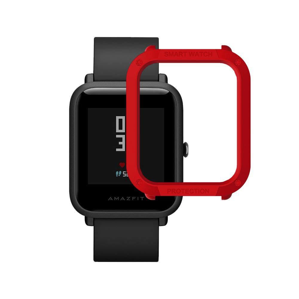 Capa Case Bumper Esportiva Para Proteção Xiaomi Huami Amazfit Bip Vermelha