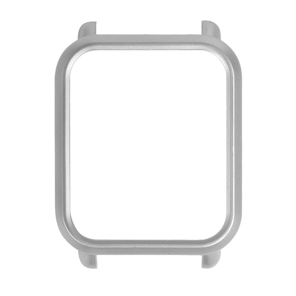Capa Case Bumper Para Proteção Xiaomi Huami Amazfit Bip Prata