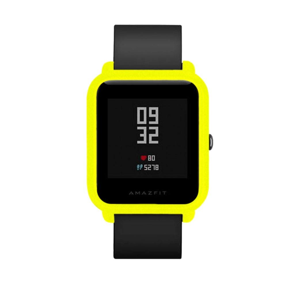 Capa Case Bumper Para Proteção Xiaomi Huami Amazfit Bip Verde Fluorescente