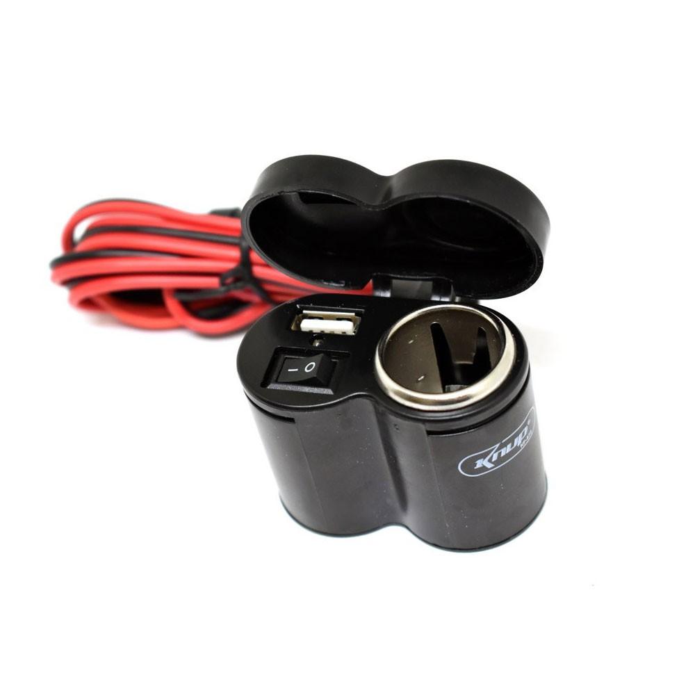 Carregador De Celular Gps Acendedor Para Moto Knup Kp-572
