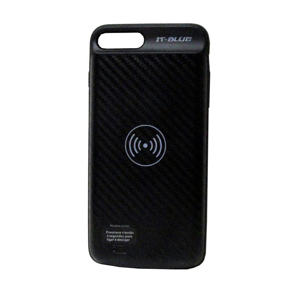 Case Capa Carregadora Sem Fio 22701 It-Blue Iphone 7 e 8 Bateria
