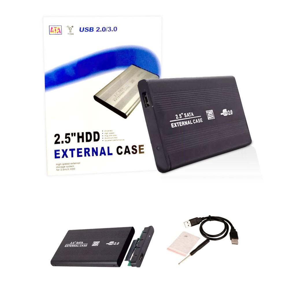 Case Hd Externo Sata 2.5 Hdd Notebook Usb Gaveta Alumínio Slim De Bolso