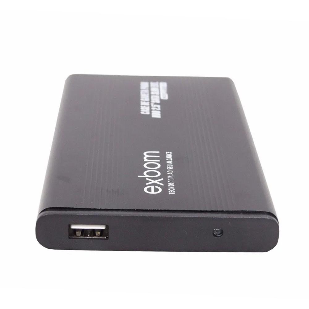 Case Hd Externo Sata 2.5 Pc Notebook Usb Bolsa Alumínio Slim