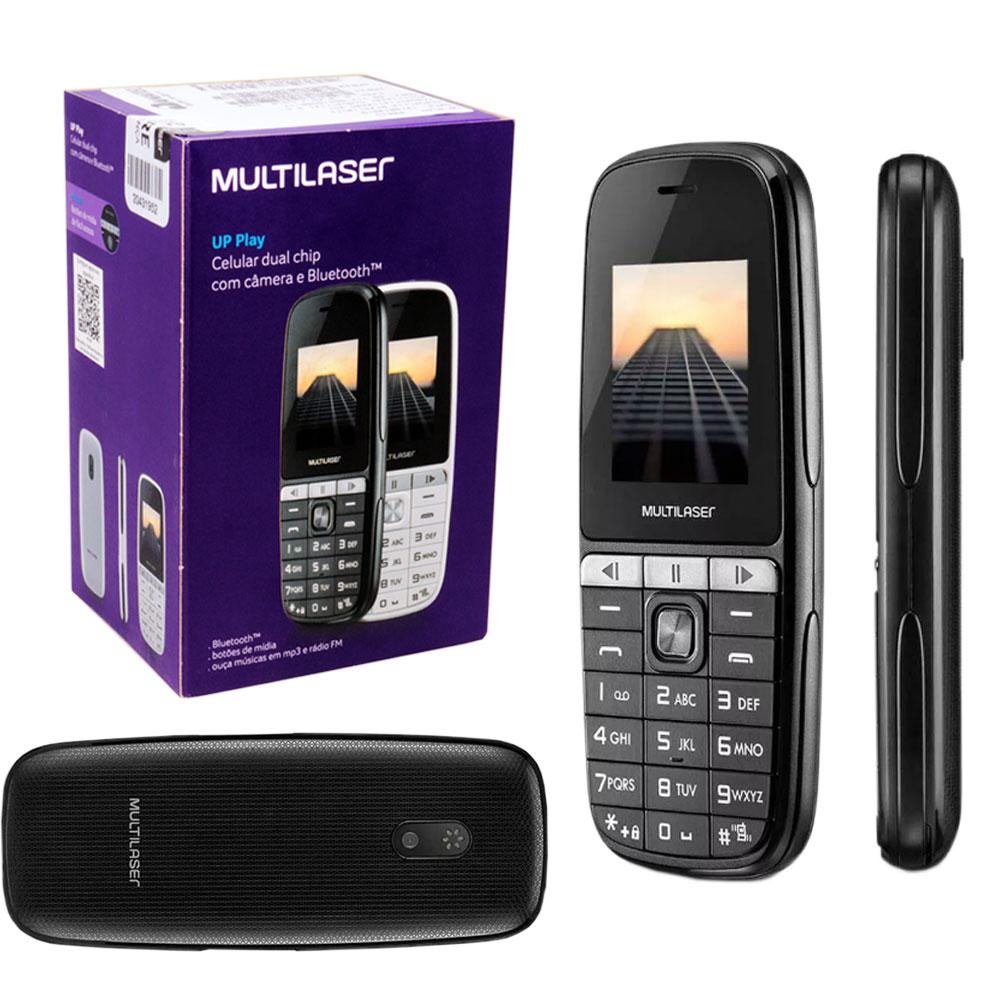 Celular Up Play Dual Chip com Câmera e Bluetooth P9076 Multilaser MP3 FM Lanterna Tela 1,8