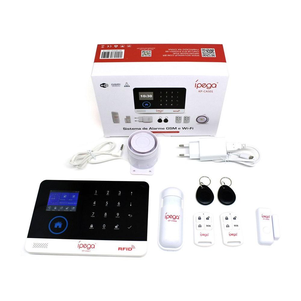 Central de Alarme Gsm Wifi KP-CA501 Ipega Sms App Monitorada Sistema Sem Fio Celular