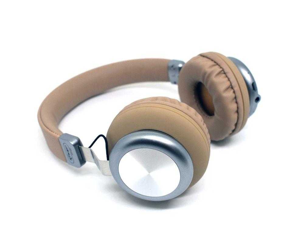 Fone de Ouvido Bluetooth 5.0 KP-452 Knup Com Microfone Rádio FM Micro SD MP3 Recarregável Marrom